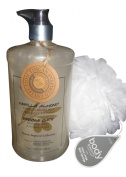 Soothing & Calming French Lavender or Vanilla Almond Bubble Bath with Bonus Body Sponge