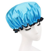 Huachnet Waterproof Double Layers Women's Shower Caps