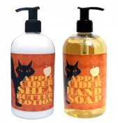 Apple Cider Shea Butter Hand & Body Lotion and Apple Cider Hand Soap Duo Set 470ml each by Greenwich Bay Trading Co.