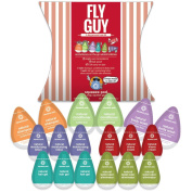 Unique Fun Travel Size Toiletry Gift for Him-Your Fly Guy.18 Single-use LEAK PROOF pods. Includes 9 Premium Natural Toiletries-See list below. TSA Carry-On Size. Look & feel great! Made in USA.