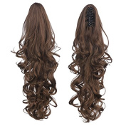 SR Hair 1pc Dual Use natural Curly ponytail 50cm Hair Extensions Synthetic Claw Ponytail P006