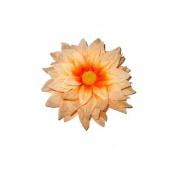 Large Orange Flower Beak Clip Fascinator Races Weddings
