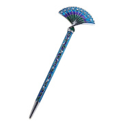 LiveZone Fashion Hair Decor Chinese Traditional Style Women Girls Hair Stick Hairpin Hair Making Accessory with Fan Shaped,Blue
