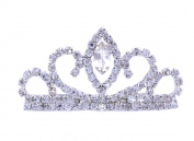 Wedding Flower Girl Princess Crown Tiara Ponytail Barrette Hair Pin for Girls Teens