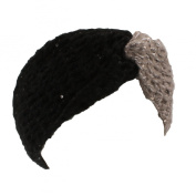 Candie's Black Grey Cinched Sequin Headwrap for Women - One Size