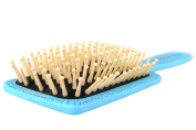 Massage Hair Brush, Natural Wood Bristle Paddle Brushes, Durable And Lasting Luxury Patent Leather Surface Crack