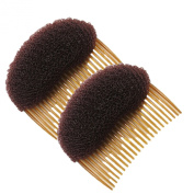 Healtheveryday®2PCS Charming BUMP IT UP Volume Inserts Do Beehive hair styler Insert Tool Hair Comb Black/Brown colours for choose Hot