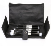 Ivation 5 Piece Double Sided Essential Brush Set with Travel Pouch,