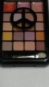 Roses Neutral Earth PALETTE 16 Eye Shadows & 3 Lip Gloss Compact City Colour PEACE SIGN