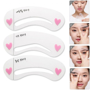 Dealglad® 6Pcs (3 Styles) Eyebrow Shaping Stencils Brow Grooming Drawing Guide Template Card DIY Makeup Beauty Tools