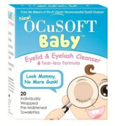 2 pack, Ocusoft Baby Eyelid and Eyelash Cleanser, Pre-Moistened Towelette, 20 Count (40 Total)