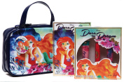Disney Dare to Dream Cosmetic Bag with Beauty Book and Makeup Set Ariel Lip Set