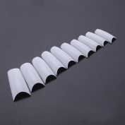 Anself 500Pcs Long Square False Tips Professional Salon Nail Art Accessory Design White