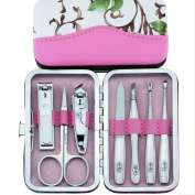 Surker 7 pcs High Quality Chrome Steel Manicure Kit and Nail Clipper Suits