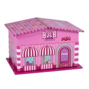 Pink House Ballerina Swan Lake Music Jewellery Box