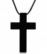 AMDXD Jewellery Stainless Steel Necklace Crucifix Cross Rope Cord Chain Adjustable,32X50MM,Pendant for Men