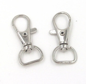 20x Loster Claw Swivel Trigger Clasp Bag D Clip Keyring Hook Craft Diy 38x18mm