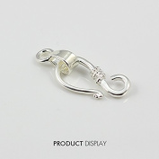 """20piece Silver Plated """"S"""" Hook and Eyes Toggle Clasp Bail Connector Charm for DIY Jewellery Making Findings Jc174"""
