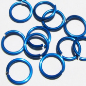 TURQUOISE Anodized Aluminium Jump Rings 250 1/4 18g SAW CUT