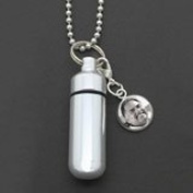 Cremation Ashes Urn Necklace or Key Chain with Photo Charm Pendant Jewellery