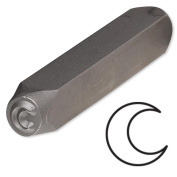 Crescent Moon Steel Design Stamp Punch Tool to Embellish Metal, Plastic, Jewellery Blanks, Clay+
