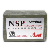 Chavant NSP MEDIUM - 0.9kg. Professional Oil Based Sulphur Free Sculpting Clay- GREEN