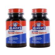 Elmer's No-Wrinkle Rubber Cement, Acid-Free, 120ml Bottle, Pack of 2