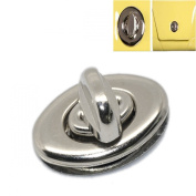ZARABE 10 Sets Silver Tone Purse Twist Turn Lock 3.5x3.3cm