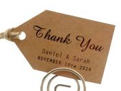 Summer-Ray.com 50 Personalised Mini Kraft Wedding Favour Gift Tags Little Arrow