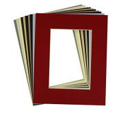 Crescent High Quality Pack of 20, 8x10 MIXED colours Cream Core Picture Mats Mattes Matting for 5x7 Photo