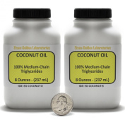 Coconut Oil [Fractionated Triglycerides] 100% Food Grade 0.5kg in Two Bottles USA