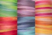 Merino Tempera Collection 19 Micron Extra Fine Wool Roving for Felting 6 Colours 130mls
