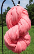 Bubble Gum Pink Wool Top Roving Fibre Spinning, Felting Crafts USA