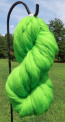 Apple Green Wool Top Roving Fibre Spinning, Felting Crafts USA