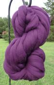 Purple Grape Wool Top Roving Fibre Spinning, Felting Crafts USA