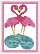 Happy Forever Cross Stitch Animals, the flamingo couples