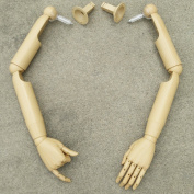 Articulate Plastic Pair of Mannequin/Dress Form Arms and Hands