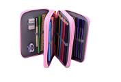 Youngman 72 Piece Colours Super Large Capacity Multi-layer Students Pencil Case Pen Bag Pouch Stationary Case Makeup Cosmetic Case Bag