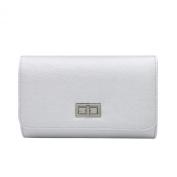 Premium Solid Colour PU Leather Turnlock Flap Clutch Bag Handbag - Diff Colours