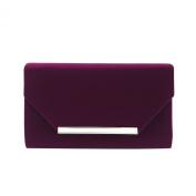 Elegant Solid Colour Velvet Clutch Evening Bag Handbag - Diff Colours