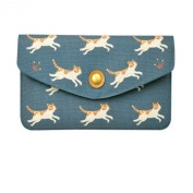 Women Lady Fashion Print Multi Pocket Card Holder Wallet Evening Clutch Purse Handbag