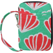 Scallop Island Seashell Print Quilted Wristlet Wallet