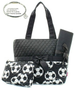 Monogram Ready Quilted Soccer Sports Print (Colour