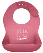 "McPolo's BABYSOFT iBib ® - the ""iPhone"" in Silicone Baby Bib World from U-Essae - Fitting MORE Growing Babies 3 Months to 6 Year-Old Toddlers & PreSchoolers comfortably with Smart Buttons"
