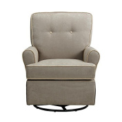 Baby Relax The Tinsley Nursery Swivel Glider Chair, Light Brown by Baby Relax