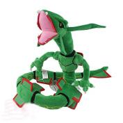 80cm 1pcs/set Pokemon Rayquaza Dragon Figure Soft Stuffed Animal Plush Toy