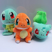 15cm 3pcs/set Pokemon Bulbasaur Charmander Squirtle Stuffed Plush Doll Toys