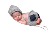 Pinbo Baby Boys Girls Photography Prop Crochet Knitted Hat Pockets Pants