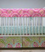 Lavender Linens Three Piece Pink and Aqua Bedding Set