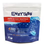 Enzytabs Septic Tank System Treatment, Billions of Enzyme Producing Bacteria Reduce Bad Odours and Help Prevent Backups, 4 Month Supply